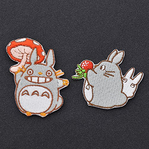 [FairyMotion Cartoon Anime My Neighbor Totoro Embroidered Patch Handmade Sew On Iron On Patch Craft Perfect] (Angel Costume Tumblr)