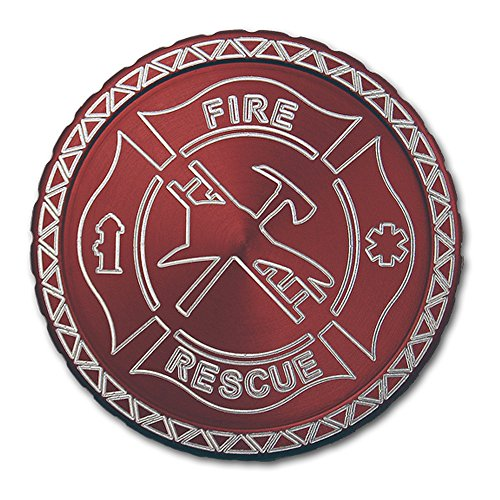 DipLidz Engraved snuff lid Fire Rescue Badge (Red, Copenhagen Plastic, Skoal, Redman, Kayak) (Engraved Snuff Can Lids compare prices)
