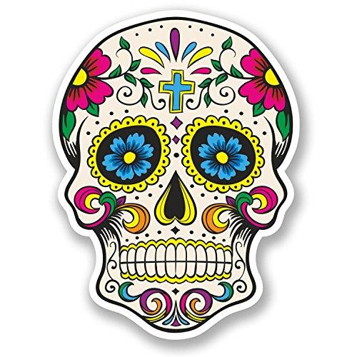 destinationvinyl-5667-adhesivos-decorativos-de-vinilo-diseno-de-calavera-mexicana-2-unidades