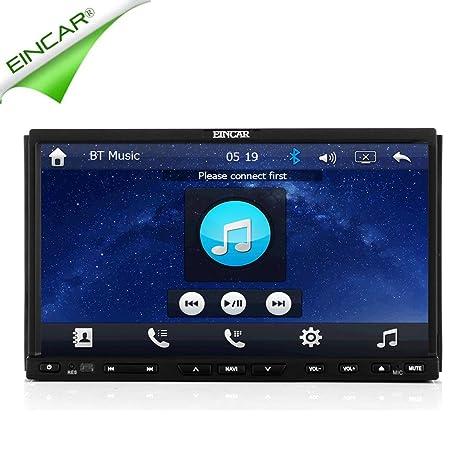 Doble EstšŠreo 2 DIN EinCar GPS Dash MP3 ršŠcepteur navegaciš®n de con Lecteur DVD capacitiva de 7 pulgadas Universal Music coche 800 * 480 Bluetooth HD deslizante Pantalla numšŠrique tš¢cti