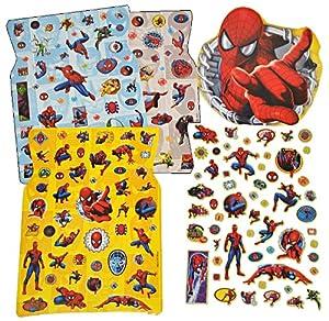 250tlg. XL - Set Sticker / Aufkleber - Disney Spiderman - Kinder Kind groß Spider Man z.B. für Stickeralbum