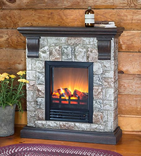 Faux Stone Electric Fireplace picture