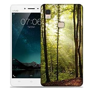 Snoogg Blossom Forest Designer Protective Phone Back Case Cover For Vivo V3 Max