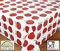 Wachstuch Tischdecke Meterware abwischbar, Glatt Apfel Rot, Länge wählbar von Beautex auf Gartenmöbel von Du und Dein Garten
