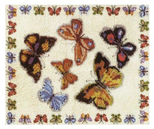 MCG Textiles 37707 Butterflies Latch Hook Rug Kit, New