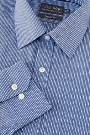 Pure Cotton Easy to Iron Striped Shirt [T11-7737-S]