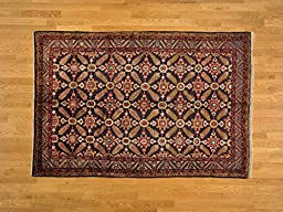 5\'x8\' Oriental Rug Persian Hamadan Full Pile Navy Mint Cond Hand Knotted G18782