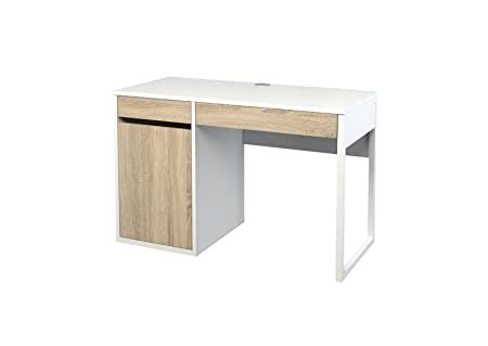 Schreibtisch FUNCTION in weiß/Eiche