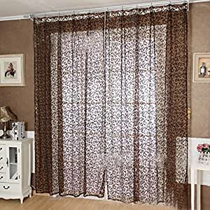 Ddlbiz Room Divider Sheer Voile Curtain
