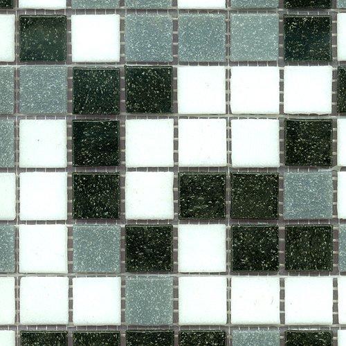 Glasmosaik mix weiß/grau/schwarz 20x20 (1 Matte)