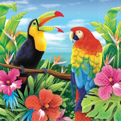 Hawaiian Tropics Lunch Napkins (16 count) - 1
