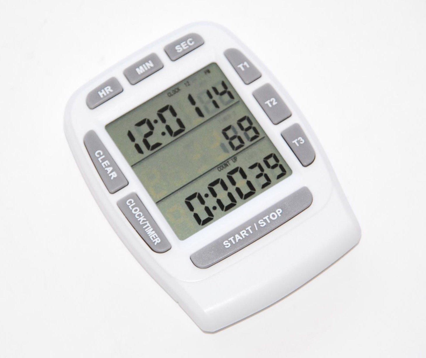 ozg-motors Triple Timer Clock Kitchen 3 Alarm Fridge Magnet Digital Lcd Count Down Egg Bbq at Sears.com