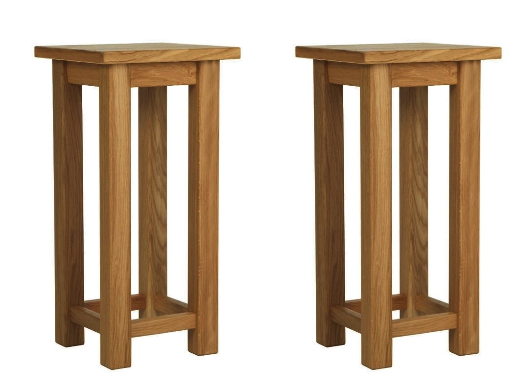 Yabbyou Rustic Solid Oak Pair of Bedside Tables       Customer review and more information