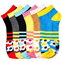 Women's Poly Blend Soft and Stretchy Low cut Pattern Socks are comfortable and easy to wear all day….