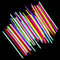 Neon Light Up Glow Sticks Bright Glo Lite Stix 8'' Bracelet Necklace Favors 200 Pcs Pack