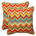 Pillow Perfect Outdoor Tamarama Multi Throw Pillow, 18.5-Inch, Set of 2 from Pillow Perfect