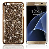 Galaxy S6 Edge Hülle,TechCode® Crystal Strass Hülle