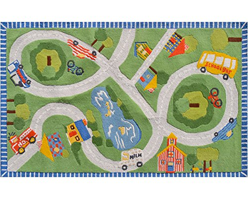The Rug Market 16487B Handmade Rugs, Multicolor