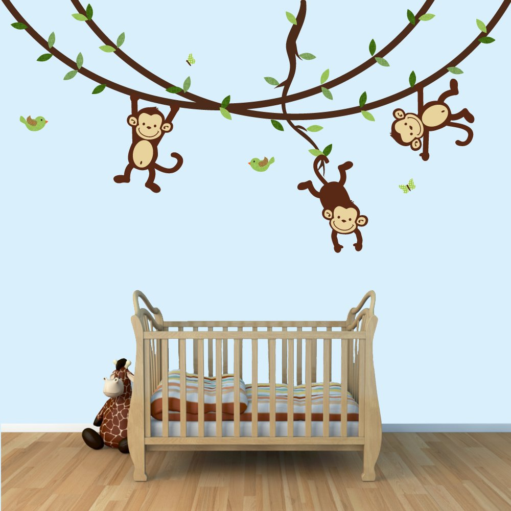 Lambs and ivy giggles crib set and accessories baby - Decoraciones de paredes ...