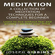 Meditation: A Collection of Meditation Techniques for a Complete Beginner: Learn to Live Without Fear and Anxiety - Awaken Your Mind | Livre audio Auteur(s) : Joseph Gibbins Narrateur(s) : Kila Kitu