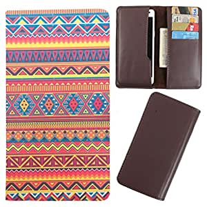DooDa - For Karbonn A1 + PU Leather Designer Fashionable Fancy Case Cover Pouch With Card & Cash Slots & Smooth Inner Velvet