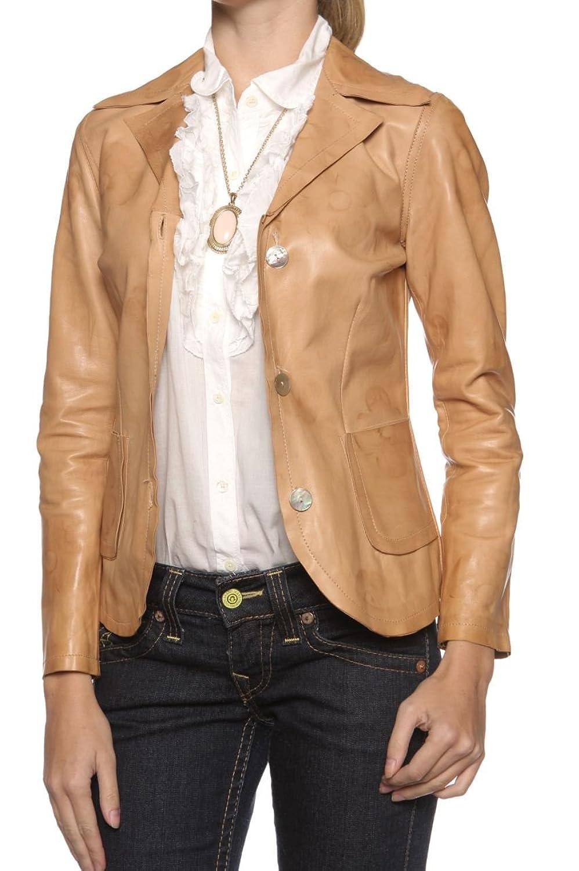 Cristiano di Thiene Antique Damen Jacke Lederjacke PAULINA, Farbe: Hellbraun jetzt kaufen