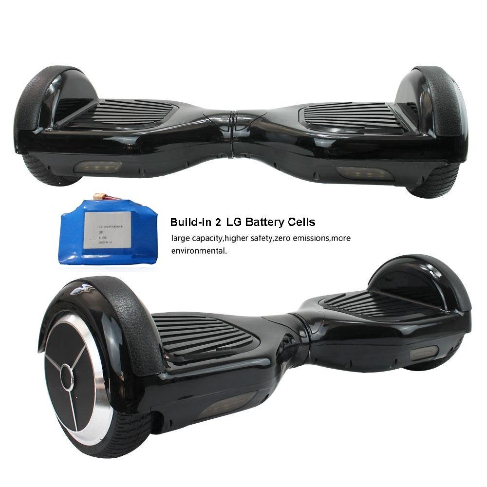 Ameritoy- Hoverboard Two Wheels Shelf Balancing Electric Scooter LG battery 4400 Amh Guarantee Only with Ameritoy (Black (Darkness))