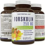 Pure Forskolin Supplement - Highest Grade & Powerful Antioxidant, Weight Loss, Boosts Energy for Women & Men 60 Veggie capsules - Guaranteed By Huntington Labs