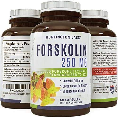 Pure Forskolin Supplement - Highest Grade & Powerful Antioxidant, Weight Loss, Boosts Energy for Women & Men 60