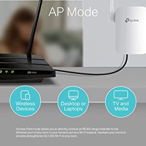 TP-Link | AC1200 Wifi Extender | Up to 1200Mbps | Dual Band Range Extender, Extends Internet Wifi to Smart Home & Alexa Devices (RE305) (Renewed) (Color: black, Tamaño: AC1200)