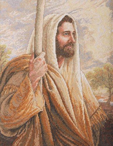 基督教十字绣十字架主耶稣基督十字绣图案
