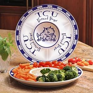 Buy Memory Company Tcu Horned Frogs Ceramic Plate by Memory Company