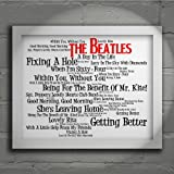 The Beatles - Sgt. Pepper's Lonely Hearts Club Band - Signed & Numbered Limited Edition Typography Wall Art Print - Song Lyrics Mini Poster