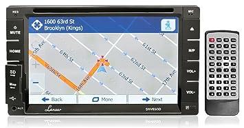 """Lanzar SNV65I3D GPS/TTS avec écran de commande tactile TFT/LCD à double pad intégré et DVD/CD/MP3/MP4/SD/AM-FM/RDS/3D UI/Bluetooth 6,5"""""""
