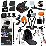 GoPro HERO4: Black Edition + Everything You Need For GoPro Hero 4: 2 Extra Replacement Batteries + Tripod Bundle + 32GB Memory + Backpack + Gopro Case + All in One Outdoor Kit & Much More!!