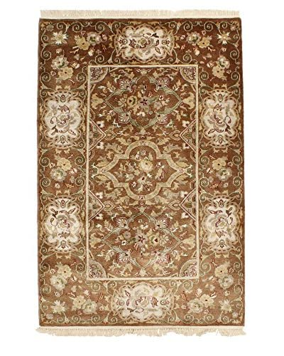 F.J. Kashanian One-of-a-Kind Hand-Knotted Scarlett Rug, Mocha, 4′ x 6′