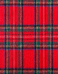 VB Scarf, classic - made of virgin wool & cashmere - classic tartan pattern - fringed
