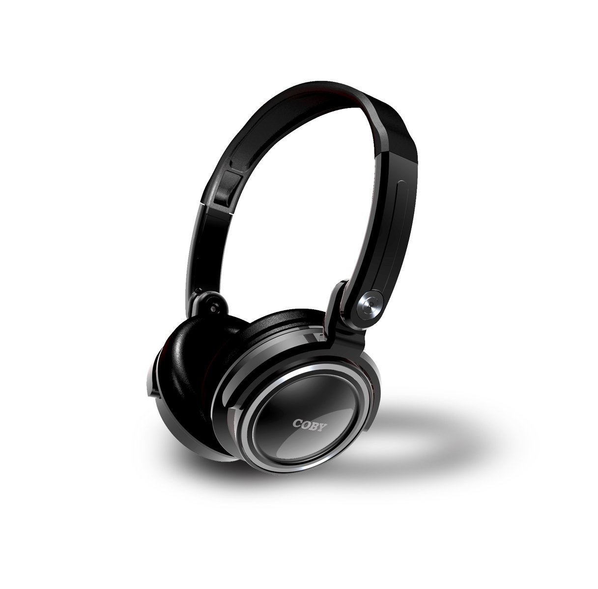Coby CV185 Folding Deep Bass Stereo Headphones, Black $9.48