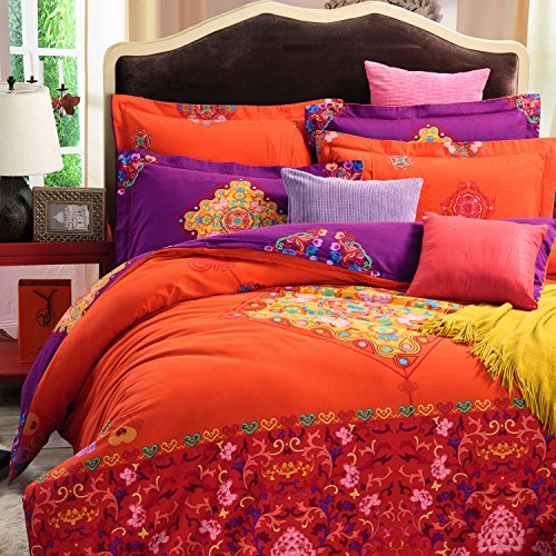 Cliab Oriental Bedding Chinese Bedding Full/Queen 100% Brushed Cotton Duvet Cover set