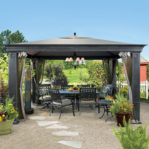 "10' x 20' 2"" 8 Leg Outdoor Shade Canopy in White by Shelter Logic"