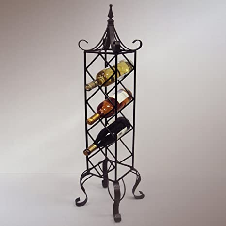 J&J Wire Free Standing Vertical Wine Rack, Bronze by J&J Wire