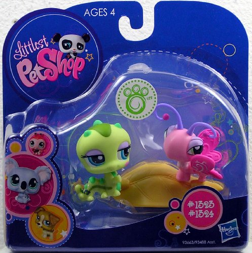 Buy Low Price Hasbro Littlest Pet Shop 2010 Assortment 'B' Series 1 Collectible Figure Inchworm & Butterfly (B0032MQ7KK)