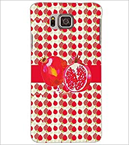 PrintDhaba Pomegranate D-2798 Back Case Cover for SAMSUNG GALAXY ALPHA (Multi-Coloured)