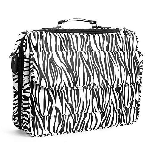 17″ Women Laptop Notebook Case Bag Briefcase Leopard print cow print zebra print embossed crocodile polka dot image
