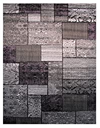 LA Rug Israel Uban Contemporary Multi-Color Gray Area Rug (39X58 Inch ) 402-94