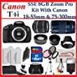 Canon EOS Rebel T4i Digital 18 MP CMOS SLR Cameras -650D with Canon EF-S 18-55mm f/3.5-5.6 IS Lens & Canon EF 75-300mm f/4-5.6 III Telephoto Zoom Lens, SSE Premium SLR Lens Accessory Package