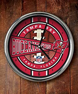 Tampa Bay Buccaneers Chrome Clock by The Memory Company