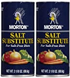 Morton Salt Substitute, 3.12 oz, 2 pk