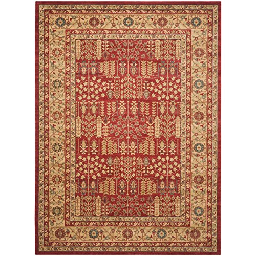Safavieh mahal collection mah697a red and natural area rug for Home accents rug collection