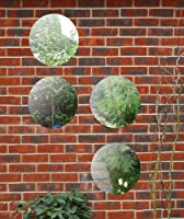 1ft 3in Set of 4 Circular Acrylic Garden Mirrors from primrose.co.uk